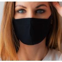 Masque noir en tissus - Paquet de 10 masques