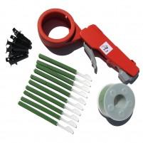 6 ensembles de pistolet à câbles PL5 - Bobines vertes (UV résistant)