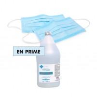 COVID KIT - Masques bleus 3 épaisseurs réguliers et item en prime