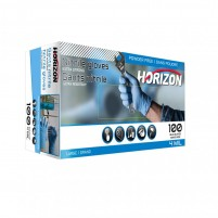 Gant en nitrile bleu 4 mm - Boîte de 100 gants