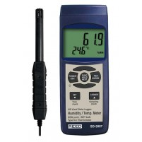 THERMO-HYGROMETER W/ TYPE K THERMOCOUPLE, DATA LOGGER