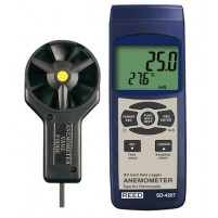ANEMOMETER/THERMOMETER, ROTATING VANE, DATA LOGGER