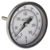 "THERMOMETER, 3"" DIAL, 2.5"" STEM, 50/550FC,1/2""NPT"
