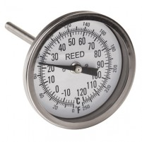 "THERMOMETER, 3"" DIAL, 4"" STEM, 0/250FC,1/2""NPT"