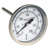 "THERMOMETER, 3"" DIAL, 4"" STEM, 50/550FC,1/2""NPT"