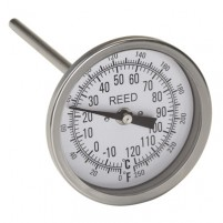 "THERMOMETER, 3"" DIAL, 6"" STEM, 0/250FC,1/2""NPT"