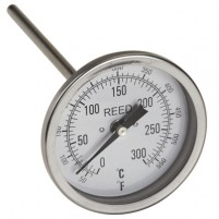 "THERMOMETER, 3"" DIAL, 6"" STEM, 50/550FC,1/2""NPT"