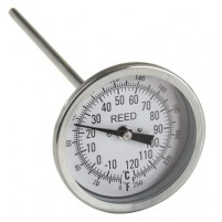 "THERMOMETER, 3"" DIAL, 9"" STEM, 0/250FC,1/2"" NPT"