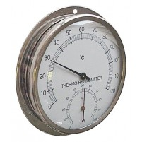 THERMO-HYGROMETER, DIAL, 0/120C, 0/100%RH