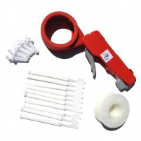 6 kits of Cable tie gun PL5 with white spool