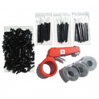 PL5 - 3 COMPLETE KITS - BLACK (UV resistant)