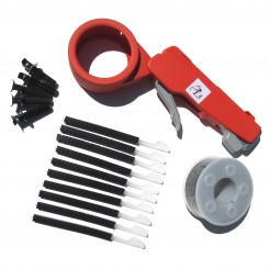 6 kits of Cable tie gun PL5 with black spool (UV resistant)