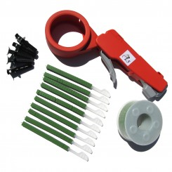 6 kits of Cable tie gun PL5 with green spool  (UV resistant)